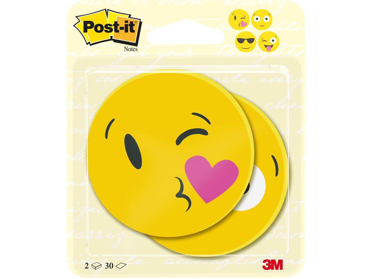 POST-IT Notes Gesicht 70x70mm BC-2030-EMO-EU gelb 2x30 Blatt (4054596856394)